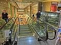 HK night 銅鑼灣 mall 香港時代廣場 Times Square escalators Causeway Bay Mar-2013.JPG