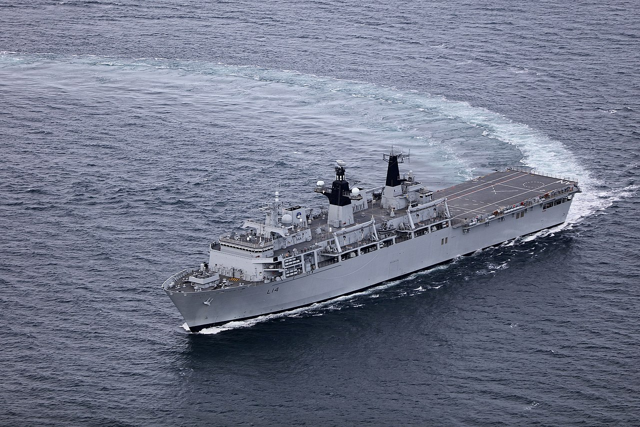 HMS ALBION Aerial Photex MOD 45165982.jpg