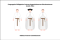 Habit of the discalced Augustinian lay friars of the congregation of the Philippines.png