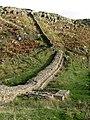 Hadrian's Wall and turret near Peel (2) - geograph.org.uk - 599483.jpg