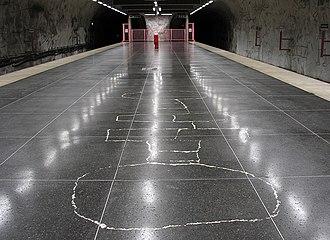 Hallonbergen metro station - Image: Hallonbergenstbana 2