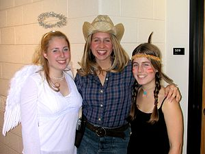 Halloween costume - College students dressed up for Halloween.