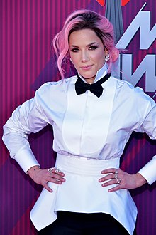 Halsey at the 2019 iHeartRadio Music Awards in Los Angeles California