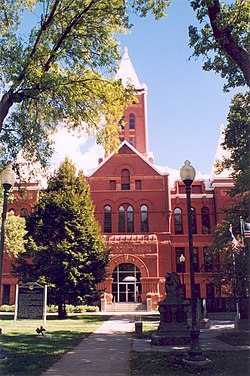 Hamilton County courthouse in Aurora