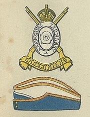 Hampshire Carabiniers badge and service cap.jpg