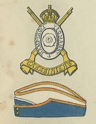 Hampshire Yeomanry - Badge and service cap as worn at the outbreak of World War II