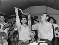 Handling serpents at the Pentecostal Church of God. Company funds have not been used in this church and it is not on... - NARA - 541335.tif
