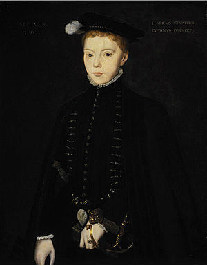 Family in early modern Scotland - Henry Stuart, Lord Darnley, as a child (1555), by Hans Eworth