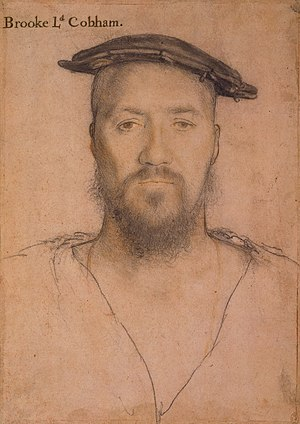 George Brooke, 9th Baron Cobham - Portrait of George, 9th Baron Cobham by Hans Holbein the Younger.