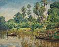 Hans von Hayek Flusslandschaft auf Sumatra.jpg
