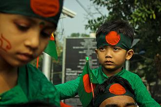 Independence Day (Bangladesh) - Celebration with Bangladeshi Flag