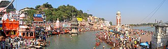 Haridwar - Panoramic view of Har ki Pauri