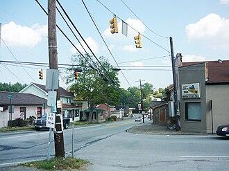 Harrison City, Pennsylvania - PA Route 130 through Harrison City