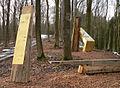 Harzhorn Infostelen in Gold und Holz.jpg