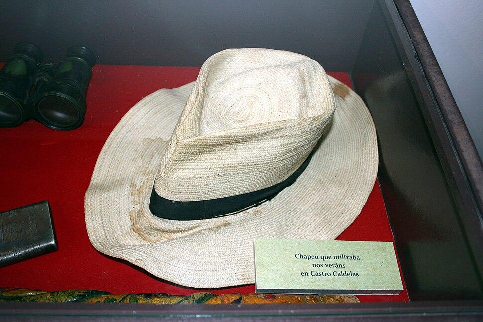 Hat of Vicente Risco in his museum in Allariz, Ourense, Galicia