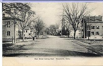 Hazardville, Connecticut - Main Street in Hazardville, circa 1906