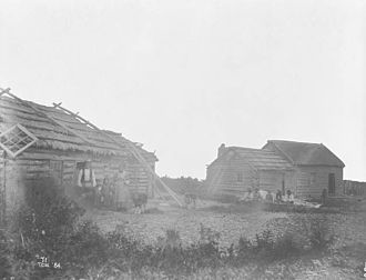 Hudson's Bay Company - A Hudson's Bay Company post on Lake Winnipeg, c.1884