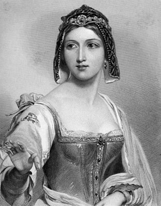 "Charles Heath - Silvia (character from ""The Two Gentlemen of Verona"", 1849, engraving after John William Wright)"