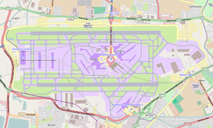 Hatton, London - Map of Heathrow Airport and Hatton