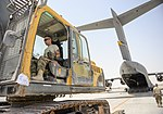 Heavy equipment loaded onto C-17 Globemaster III for transport across the AOR 170807-Z-XN609-174.jpg