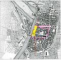 Heilbronn vermutete Lage des fränkischen Königshofes an der Gerberstraße, Spitalgebäude.JPG
