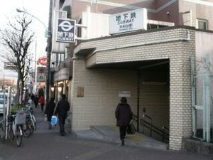 Heiwadai Station (Tokyo) - Station entrance before privatization
