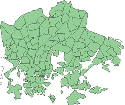 Position of Siltasaari within Helsinki