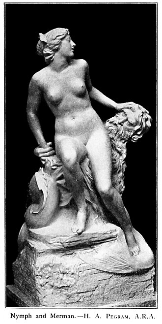 Henry Alfred Pegram - Pegram's Nymph and Merman