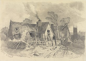 Henry Bright (painter) - Cottages at Oxford (undated), Yale Center for British Art