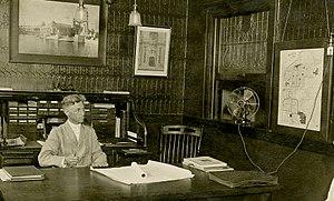 Henry F. Hoit - Image: Henry Hoit seated behind desk, 7 23 1913