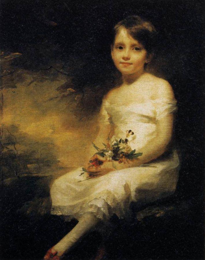 Petite Fille tenant des fleurs