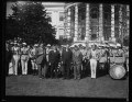 Herbert Hoover with group outside White House, Washington, D.C. LCCN2016889728.tif