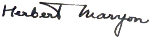 Herbert Maryon - Image: Herbert Maryon signature
