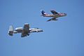 Heritage Flight A-10C F-86F second pass 11 TICO 13March2010 (14619530803).jpg