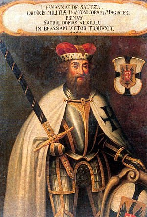 Grand Master of the Teutonic Order - Hermann von Salza, fourth Grand Master of the Teutonic Knights, in a Baroque-era portrait.