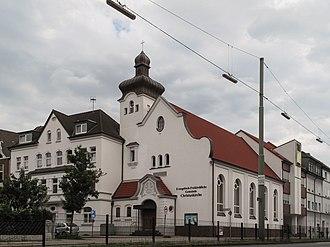 Herne, North Rhine-Westphalia - Image: Herne, kerk in straatzicht foto 3 2010 08 07 17.07