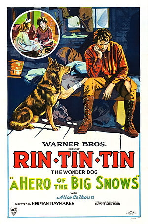 Rin Tin Tin - Poster for A Hero of the Big Snows (1926)