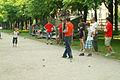 Herrenhäuser Allee Scene der Schülermeisterschaft beim Boulefestival Hannover 2012 I.jpg