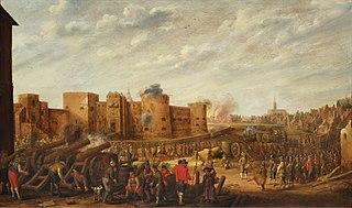 The siege of the castle Vredenburg in Utrecht in 1577
