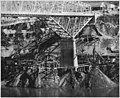 Highway bridge pier No. 2 showing caisson construction for pier enlargement - NARA - 294265.jpg