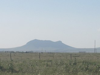 Texline, Texas - Rabbit Ear Mountain north of Clayton, New Mexico lies approximately 16 miles northwest of Texline