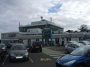 Hilton Park services - The main northbound building, with the tower.