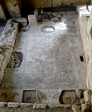 Early Byzantine mosaics in the Middle East - Upper part of Hippolytus mosaic in Madaba