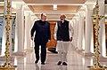 His Highness Prince Karim Aga Khan calls on the Prime Minister, Shri Narendra Modi, in New Delhi on February 21, 2018 (1).jpg