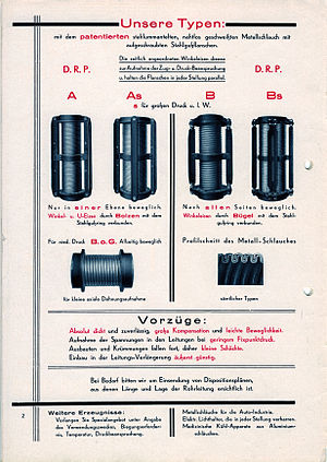Metal expansion joint - Technical information 1930