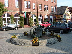 Hitzacker - The market place in Hitzacker