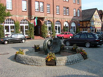 Hitzacker - The market place in Hitzacker