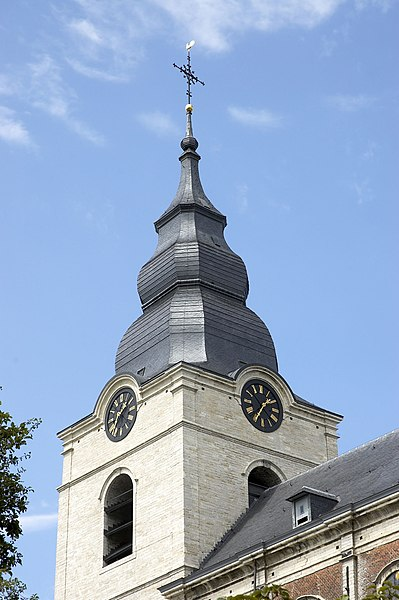 Tower with clock of the Saint-Gorgonius church