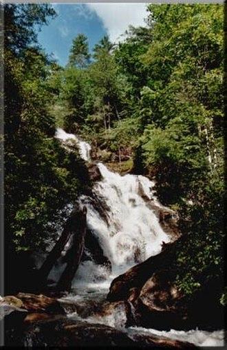Rabun County, Georgia - 120-foot Holcomb Creek Falls