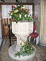Holmbury St Mary Font - geograph.org.uk - 1093435.jpg